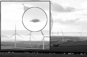 UFO at Fullabrook wind farm. (Credit: Rob Tibbles/North Devon Journal)