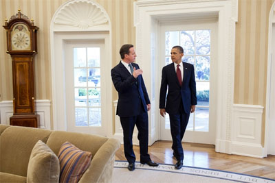 President Barack Obama and Prime Minister David Cameron in the Oval Office. (Credit: White House/Pete Souza)