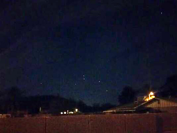 Another image of the Easter Sunday Phoenix UFO proved by Peter Perez. (Credit: Peter Perez/12 News)