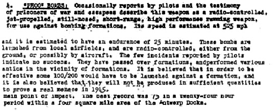Exceprt on Phoo Bombs from the USAF document.