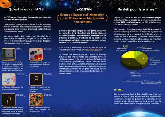Information chart of GEIPAN of what to do if you see a UFO and some basic definitions. (image credit: GEIPAN/CNES)