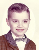 Richard Gottlieb as a child, the age when he saw his first UFO.