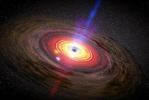 Artist concept of a black hole.   (NASA/Dana Berry/SkyWorks Digital)