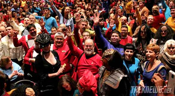 Star Trek fans (aka Trekkies) at a Star Trek Convention. These are apparently the types of nefarious characters that Scotland Yard kept an eye on. (Credit: TrekNews.net)
