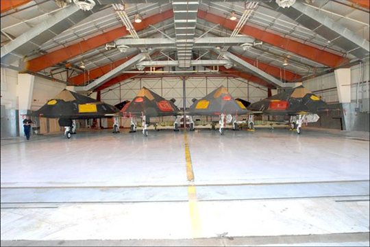 F-117A Stealth Fighters in storage at Tonopah Test Range, courtesy USAF