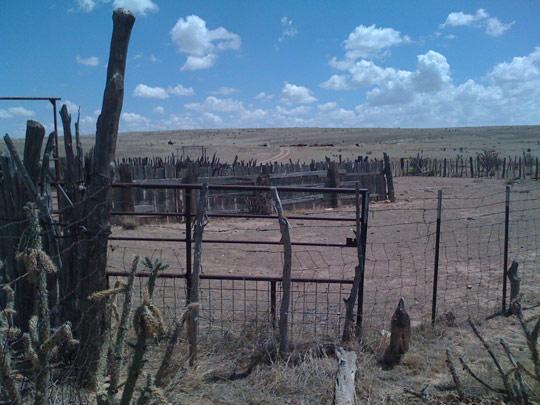 The famous barn near the debris field where Mac Brazel had brought debris to show officials.