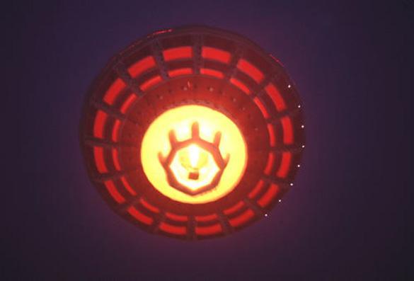 Virgin UFO seen from below. (Credit: Virgin)