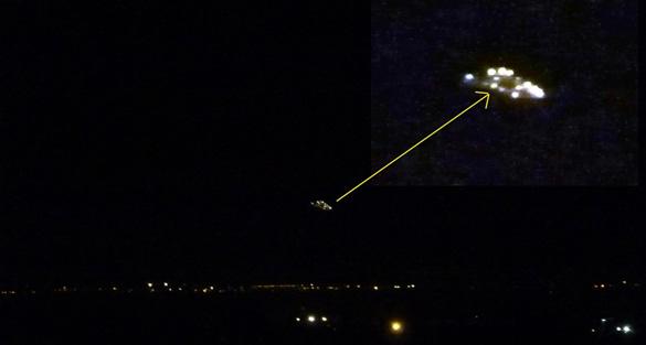 Close-up of UFO taken over Rivoli. (Credit: CUFOM)