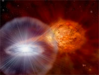 Explosion from a white dwarf star (credit: NASA)